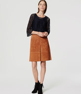 LOFT Suede Zip Skirt