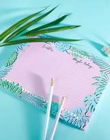Skinnydip Palm Print Desk Planner