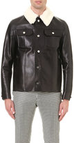 Bally Shearling Collar Leather Jacket
