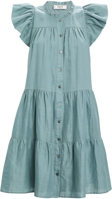 Sea Shannon Tiered Button-Down Dress