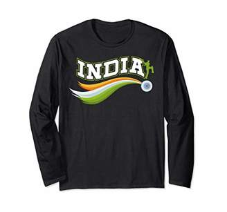 IDEA Patriotic India Cricket Fan Gift Design Long Sleeve T-Shirt