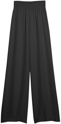 Theory Ribbed Waist Wide Leg Pants