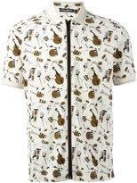 Dolce & Gabbana musical instrument print polo shirt - men - Silk/Cotton - 48