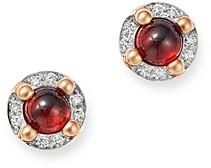 Pomellato 18K Rose Gold M'ama non M'ama Garnet & Diamond Stud Earrings