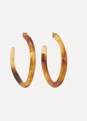 Dinosaur Designs Tortoiseshell Resin Hoop Earrings - one size