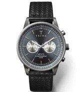 Triwa Ash Nevil Men's Gunmetal Chronograph Watch Black Giza Leather Strap NEST110 GC010112