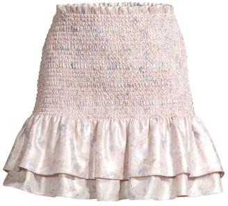 LIKELY Kenzie Smocked Flare Skirt
