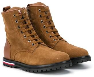 Moncler Enfant Lace-Up Ankle Boots