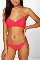 Boohoo Rome Mix and Match Wrap Front Bikini Top