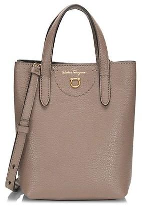 Salvatore Ferragamo Leather Shopper Mini Bag