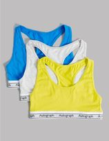 Marks and Spencer 3 Pack Cotton Crop Top with Stretch (9-16 Years)