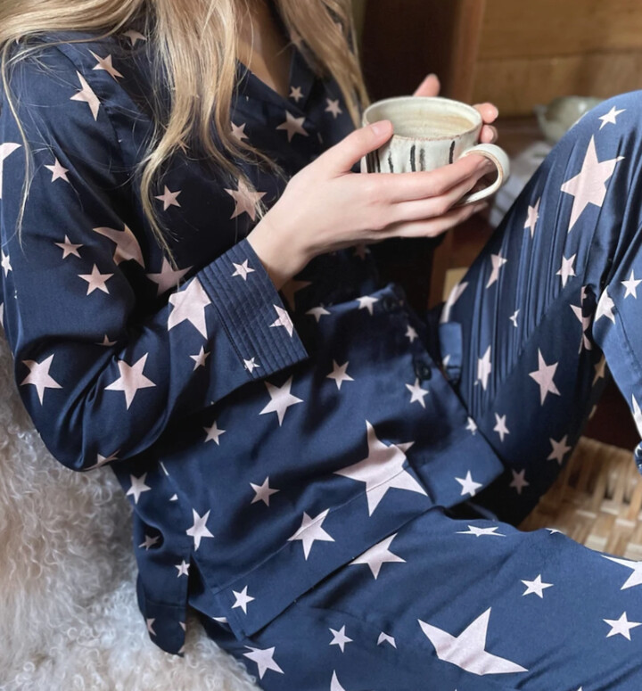 Thumbnail for your product : Margaux Star Print Navy Pyjamas - MED