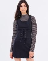 MinkPink Corset Denim Dress