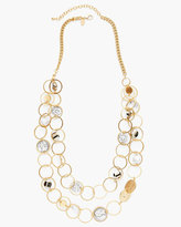 Chico's Emma Long Multi-Strand Necklace