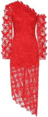 David Koma One-shoulder lace dress