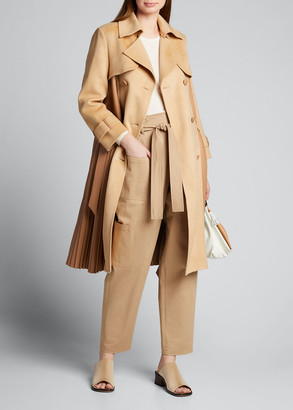 Huishan Zhang Double-Breasted Faux Leather Coat