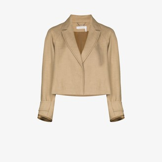 Chloé Cropped Cotton Linen Jacket