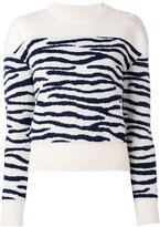 MM6 MAISON MARGIELA zebra pattern jumper - women - Wool - S