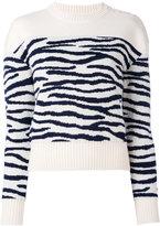 MM6 MAISON MARGIELA zebra pattern jumper - women - Wool - XS