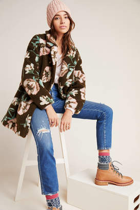 If By Sea Olivia Floral Teddy Coat