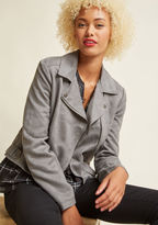 BB Dakota Revved Up Faux-Suede Moto Jacket in XS - by from ModCloth