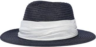 Eugenia Kim Lillian Satin-trimmed Hemp-blend Hat
