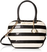 Betsey Johnson Sequin Satchel Bag, Black/White, One