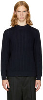 TOMORROWLAND Navy Merino Mock Neck Sweater