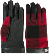 DSQUARED2 tartan effect gloves - men - Lamb Skin/Wool - 9