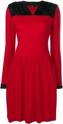 Ritz Saddler Vintage ruched panel shoulder dress