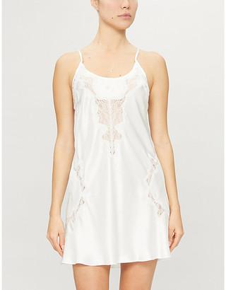 Selfridges Penelope floral-lace silk-satin chemise