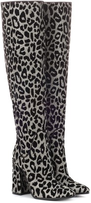 Dolce & Gabbana Leopard over-the-knee boots