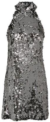 Galvan Gemma High Neck Sequin Dress