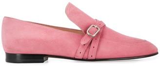 J&M Davidson Buckled Strap Low-Heel Loafers