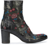 Fauzian Jeunesse' Fauzian Jeunesse embroidered flowers ankle boots