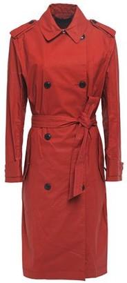 Rag & Bone Rufus Waxed Cotton-blend Gabardine Trench Coat