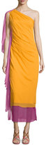 Diane von Furstenberg Nori Colorblock Silk Maxi Dress, Saffron