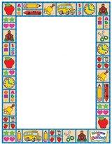 Teachers Friend Tf-3537 Design Paper Country Schooltime 50 Sheets 8.5 X 11