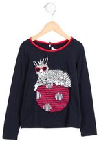 Little Marc Jacobs Girls' Graphic Print Long Sleeve Top