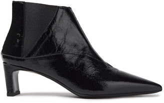 McQ Metta Crinkled Patent-leather Ankle Boots