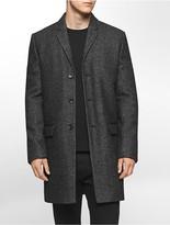 Calvin Klein Heathered Wool Blend Overcoat