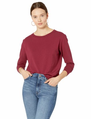 The Drop Women's Annabelle Long-Sleeve Crew Neck Supersoft Stretch Pullover
