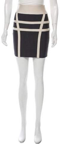 Herve Leger Bandage Mini Skirt