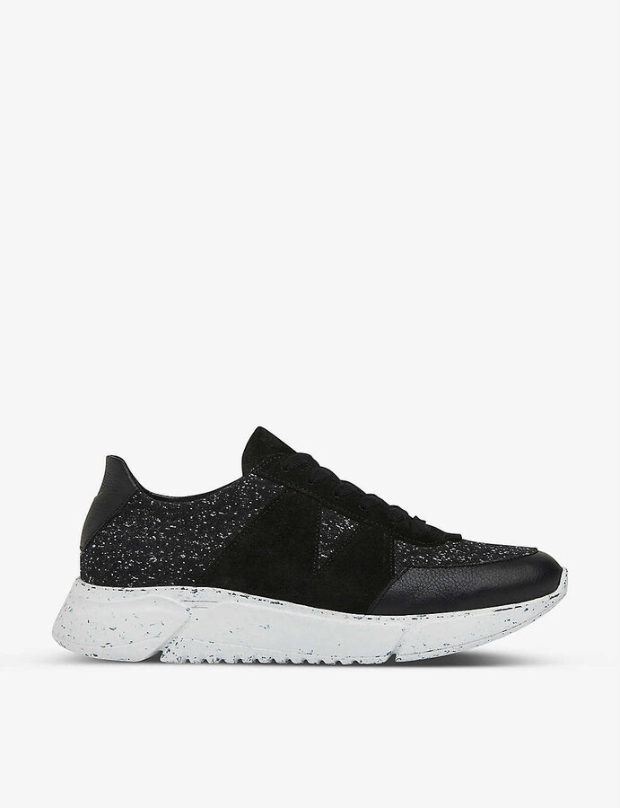 Whistles Dorset low-top leather trainers