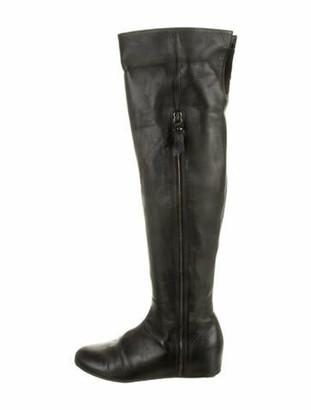 Stuart Weitzman Leather Boots Black