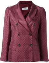 Alberto Biani floral print double breasted blazer