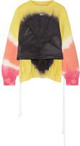 Off-White Coulisse Tie-dye Cotton-jersey Sweatshirt - Yellow