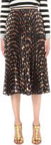 Gucci Pleated metallic plissé midi skirt
