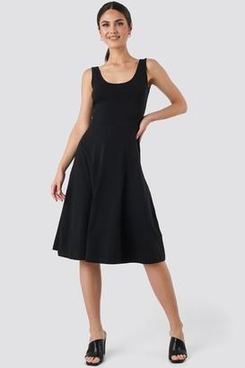 Trendyol Sleeveless Jersey Midi Dress Black