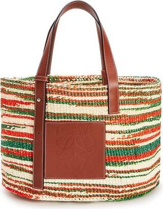Loewe Paula's Ibiza striped raffia basket bag